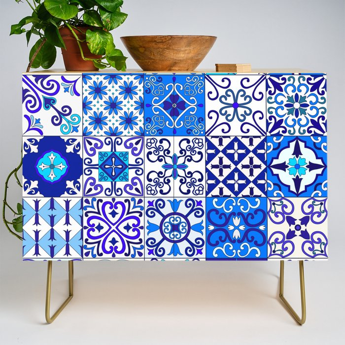 Moroccan_Tile_islamic_pattern_Credenza_by_Somberlain__Gold__Birch