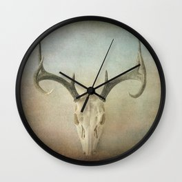Skull And Antlers Wall Clock