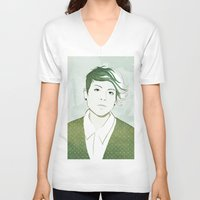 tegan and sara V-neck T-shirts featuring Tegan by GirlApe