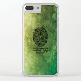 Maze of Intrigue - Honore de Balzac Clear iPhone Case