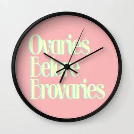 OVARIES BEFORE BROVARIES REDEUX Wall Clock