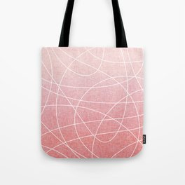 Scribble Linen - Blush Pink Tote Bag