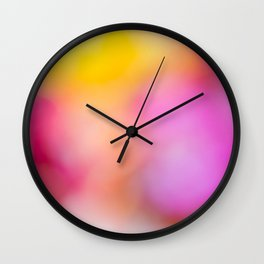 Colorful freesia flowers background. Wall Clock