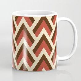Mid Century Modern Triangles (Tomato Red) Coffee Mug