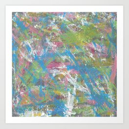 Color and Movement Abstract Art Art Print