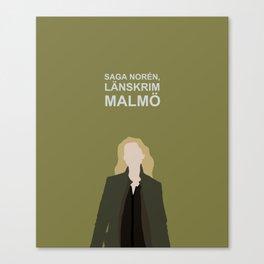 Saga Noren Länskrim Malmö / Broen Bron The Bridge / Sweden Denmark Canvas Print