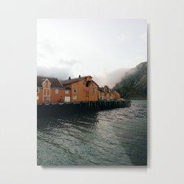 Nusfjord at Lofoten Island Metal Print