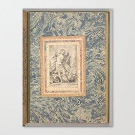 St. Michael, the Archangel  Folio from the Bellini Album   ca. 1600 Canvas Print