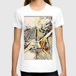 4406s-JG Sensual Nude in Chair By Window Erotic Kandinsky Style Art T-shirt
