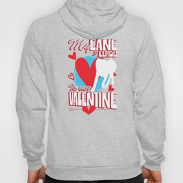My Cane Corso Is My Valentine Funny Dog Lover T-Shirt Hoody
