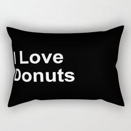 I Love Donuts Rectangular Pillow