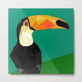 Toucan Bird artwork Geometric Tropical birds Brazil Metal Print