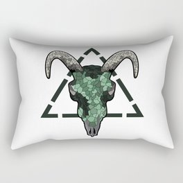 Skull of a bull on a colorful paint texture. Vector boho chic illustration for a poster, postcard, t Rectangular Pillow