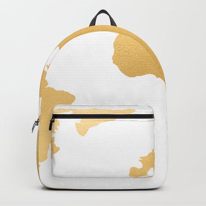 World Map Deep Gold Rush Backpack