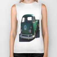 vw Biker Tanks featuring VW GRUNGE by Joedunnz