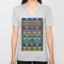 Absolute Colorful World Extravagance Architectural Photograph Unisex V-Neck