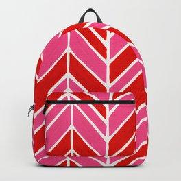 Intermittent Herringbone – Red & Pink Backpack