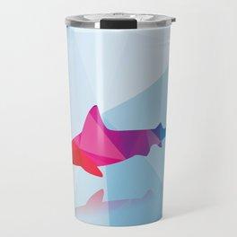 Geometric shark Travel Mug
