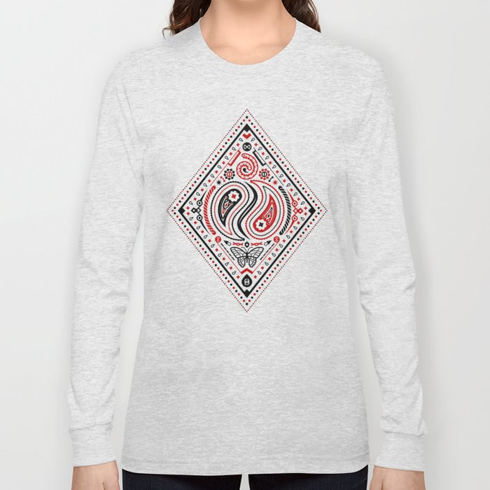 83 Drops - Diamonds (Red & Black) Long Sleeve T-shirt