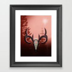 Warm Horns Framed Art Print