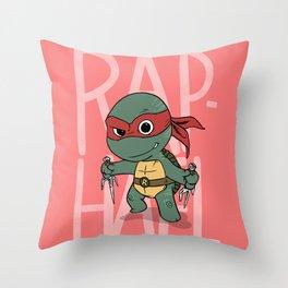 TMNT: Raphael (Cute & Dangerous) Throw Pillow