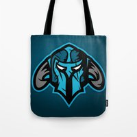 guardians Tote Bags featuring Guardians by Foxwilleau