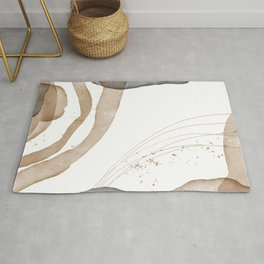 Liquid watercolor marble imitation stone translucent overlay memphis. Pastel gold gray art. Create design for postcard, notebook, fabric, invitation card, web mailing, product packaging Rug