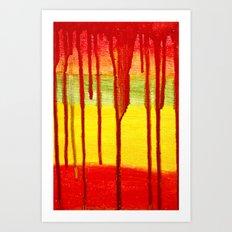 Bleed  Through Art Print