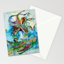 OCTOPUSES IN THE ABYSS Stationery Cards
