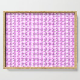Binary Hot Pink Serving Tray