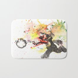 Mario Throwing Fireball Bath Mat