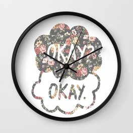 OKAY?OKAY THE FAULT IN OUR STARS TFIOS HAZEL AUGUSTUS CLOUDS #2 Wall Clock