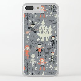 Love shack monsters halloween party Clear iPhone Case