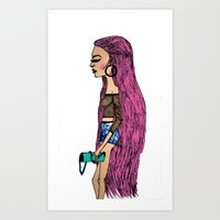 grunge Art Prints featuring grunge  by MariaBueno
