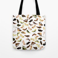 shoes Tote Bags featuring Shoes by Jeanne Bornet