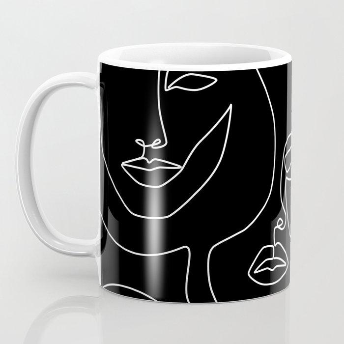 Faces in Dark Coffee Mug