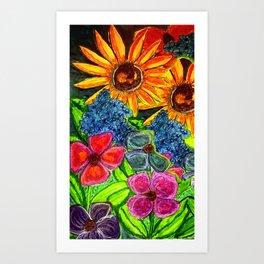 Joyful Floral Art Print
