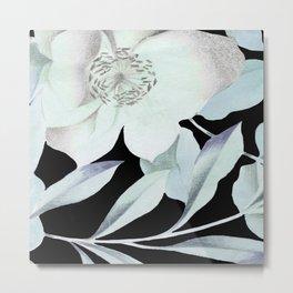 camellia on black Metal Print