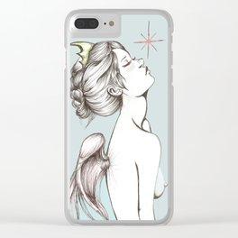 """Colored """"Memento Vivere, Memento Mori"""" Clear iPhone Case"""