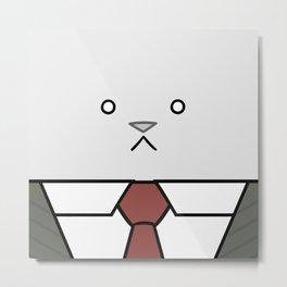 Business Cat Cube Metal Print