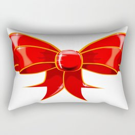 Isolated Red Ribbon Rectangular Pillow