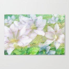 Vintage Soft Pastel Floral Canvas Print