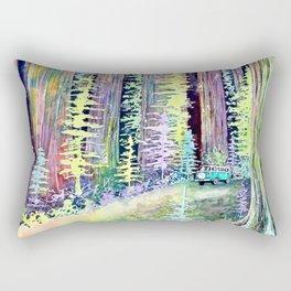 Redwoods Road Trip Rectangular Pillow