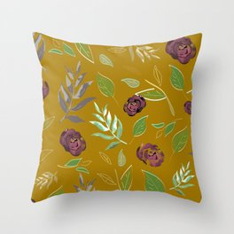 Simple and stylized flowers 12 Throw Pillow