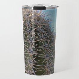 Close Up Of Barrel Cactus In Desert Travel Mug