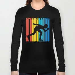 Retro Style Speed Skating Speed Skater Long Sleeve T-shirt