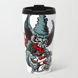 Gamer Skull -  Bermuda Grey Metal Travel Mug