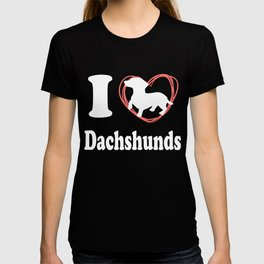 I Love Dachshunds T-shirt