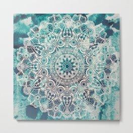 Mandala pattern design Metal Print
