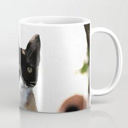 Just Chillin Tricolor Cat Coffee Mug